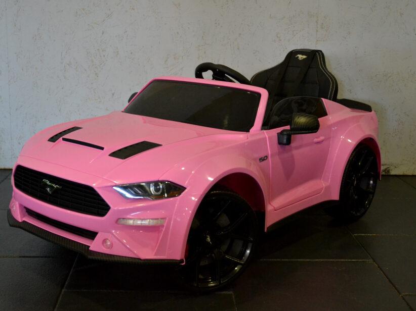 Ford Mustang Elektrische Kinderauto 12V 2.4G RC Roze