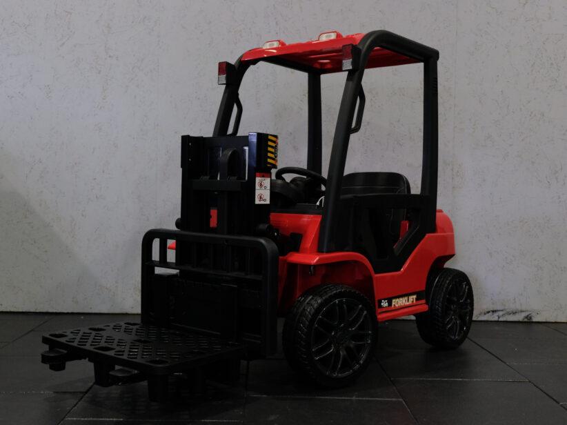 Heftruck Elektrische Kinderheftruck 12V 2.4G RC met Afstandsbediening Rood