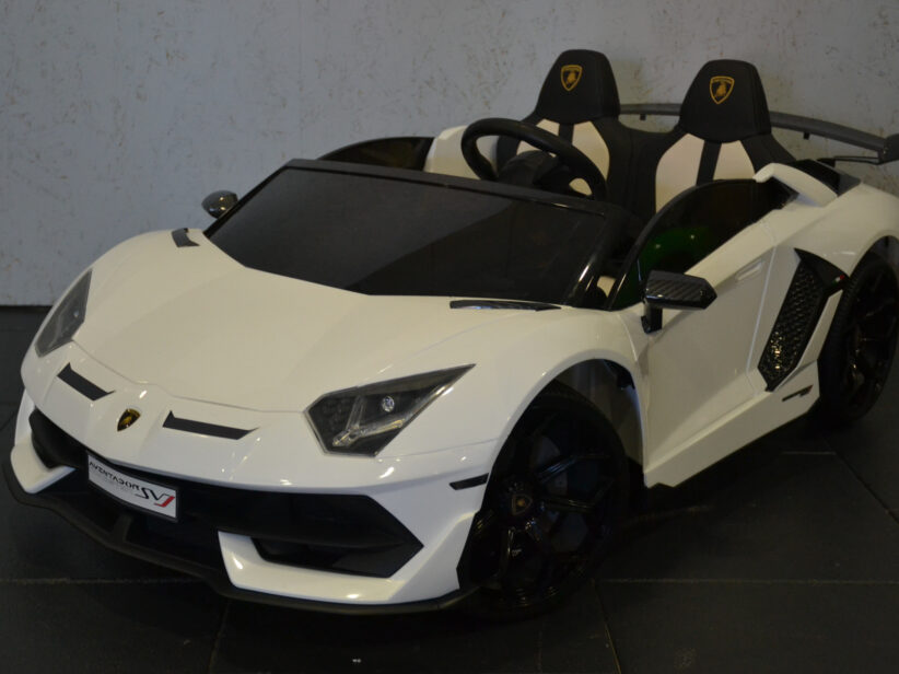 Lamborghini Aventador 2 Persoons Kinderauto Elektrisch 24V 2.4G Met Drift Functie Wit