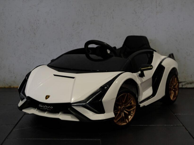 Lamborghini Sian Elektrische Kinderauto MP4 Scherm 12V Wit