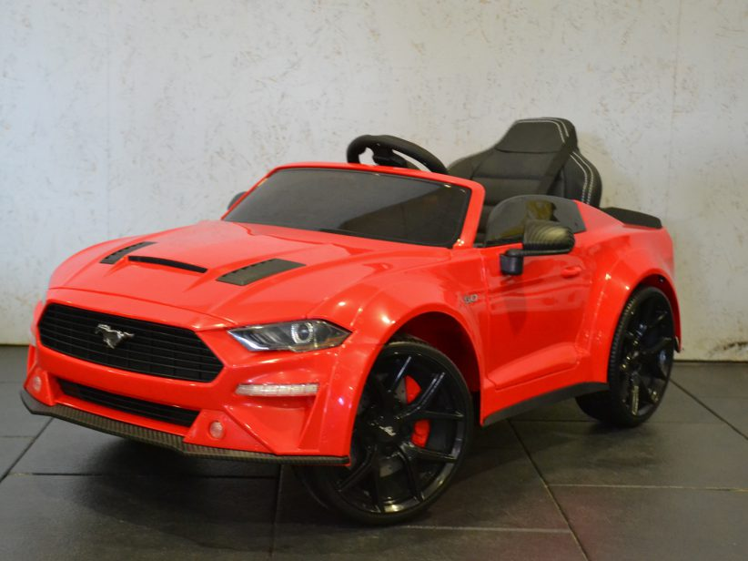 Ford Mustang Elektrische Kinderauto 12V 2.4G RC  Rood