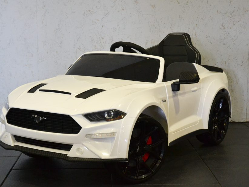 Ford Mustang Accu Kinderauto 12V 2.4G RC Wit