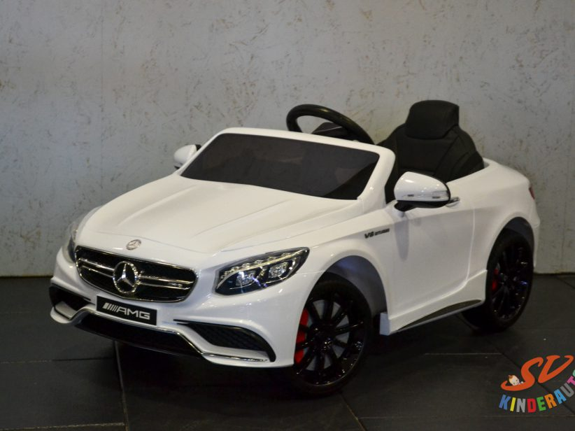 Mercedes-Benz S63 AMG kinderauto 12V 2.4G RC Wit