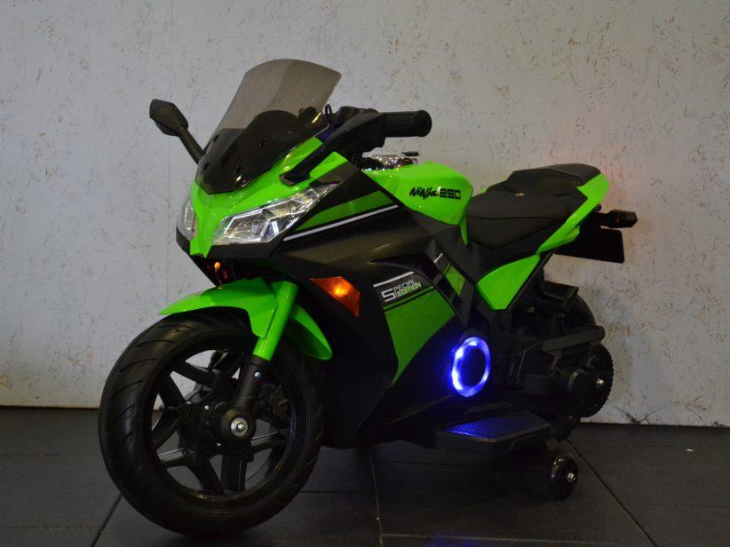 Ninja Elektrische Accu Kindermotor 12 Volt Groen