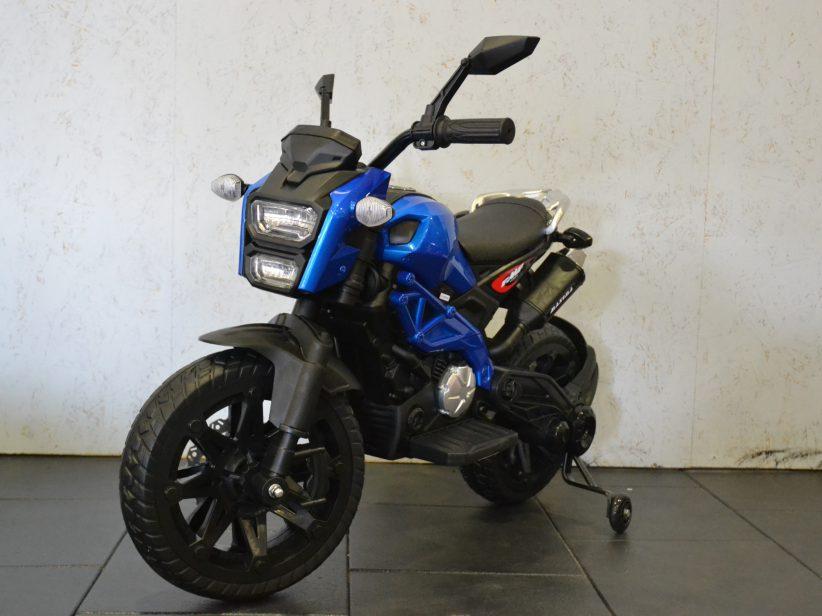 Grom Superbike Accu Kindermotor 12V Blauw Metallic