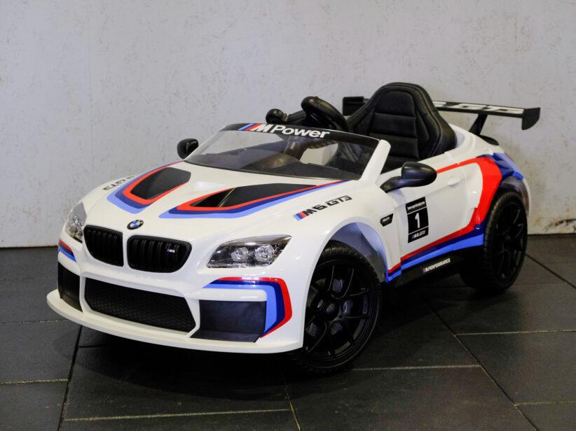 BMW M6 GT3 Kinderauto Elektrisch 12V 2.4G Wit