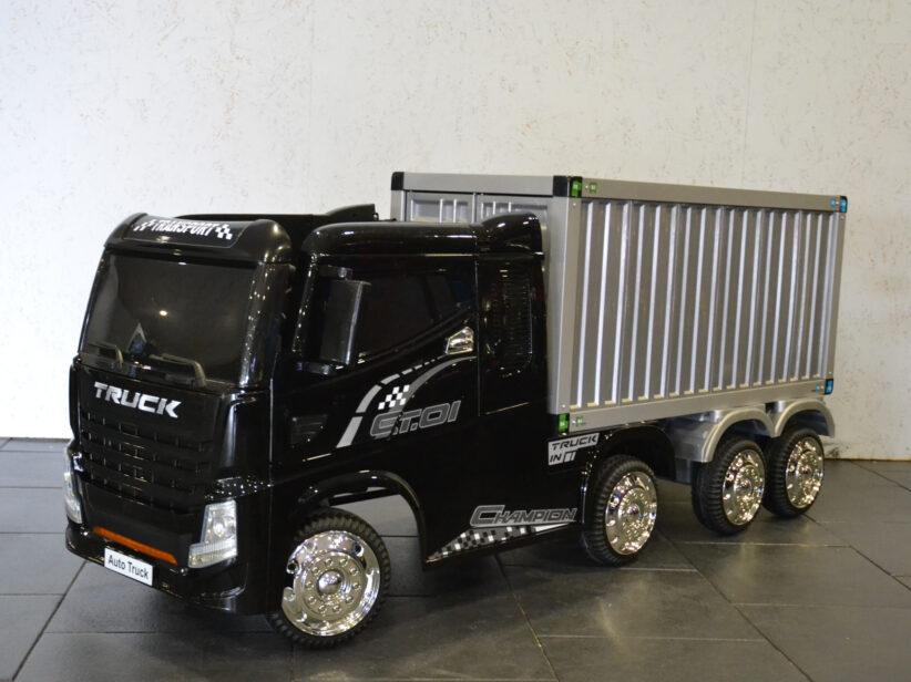 Vrachtwagen Met Container Elektrische Kindervrachtwagen 12V 2.4G RC