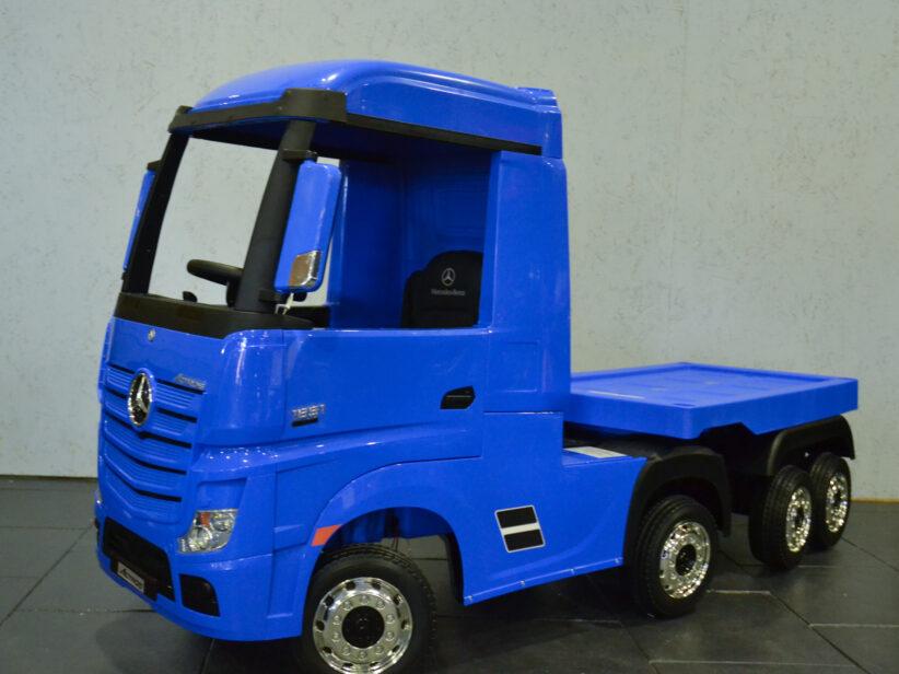 Mercedes Actros met trailer elektrische kinderspeelgoed Vrachtwagen 2x12V 2.4G RC Blauw